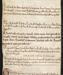 The Obituary Roll Of Lucy, First Prioress Of Hedingham tituli 70 to 74
